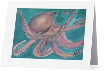 """Octopus"" Note Cards"