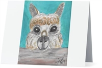 """Alpaca #2"" Note Cards"