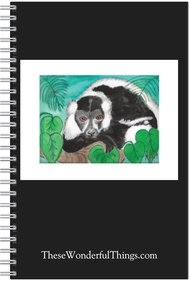 Black & White Lemur #2 Journal