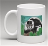 """Black & White Lemur #2"" Coffee Cup"
