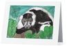 """Black & White Lemur #2"" Note Cards"