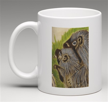 """Porcupine #3"" Coffee Cup"