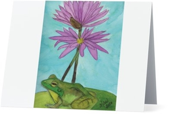 """Frog #3"" Note Cards"