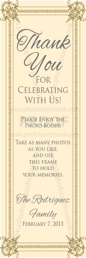 Personalized Inserts   Photo Booth Nook