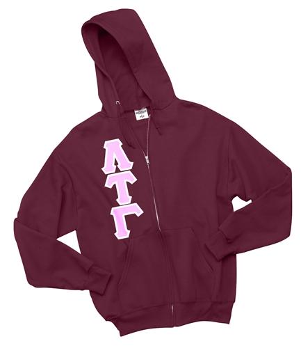 greek letter hoodie