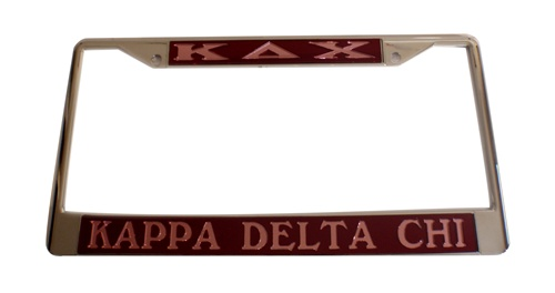 Delta Sigma Theta Licence Plate Frame - Best Plate 2018