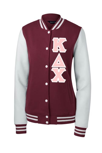 ef192ddb5b Kappa Delta Chi Fleece Letterman Jacket