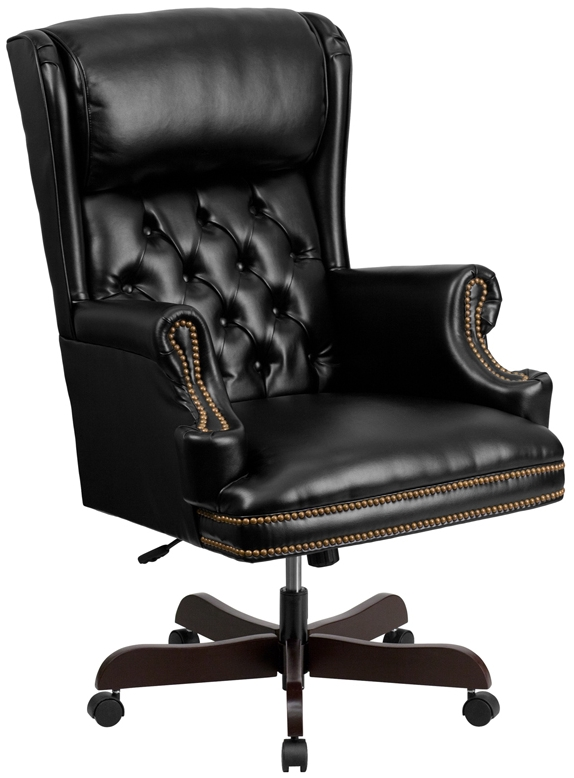 Peachy High Back Tufted Black Leather Executive Swivel Office Chair Gmtry Best Dining Table And Chair Ideas Images Gmtryco