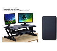 Standing Desk + Anti Fatigue Standing Mat Combo