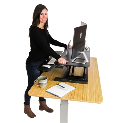 DeskRiser 37X | 37 Inch Wide Adjustable Height Standing Desk available in black