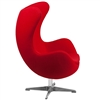 Egg Chair by Arne Jacobsen in Red