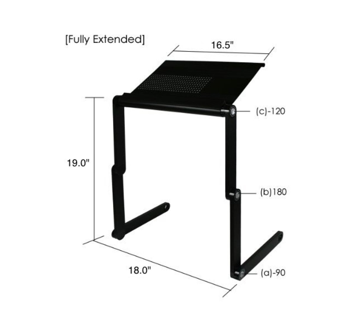 Adjustable Aluminum Laptop Cooling Stand Desk Table