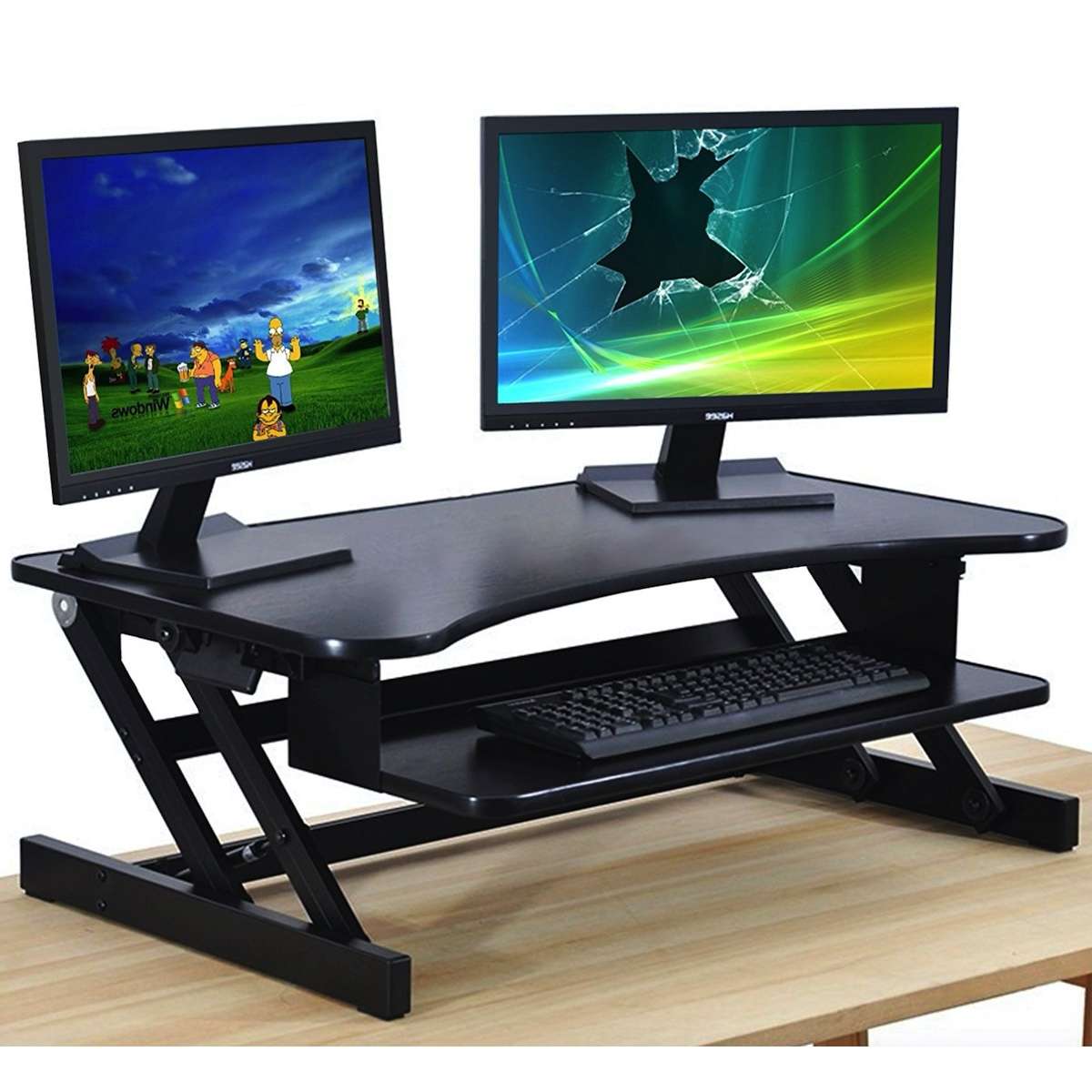 standing desk the deskriser height adjustable