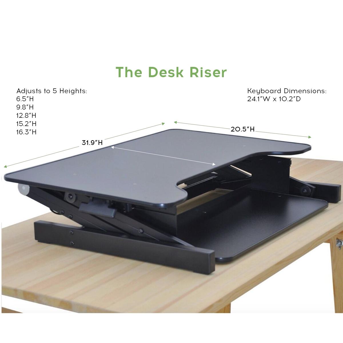 Standing Desk the DeskRiser Height Adjustable Heavy Duty sit