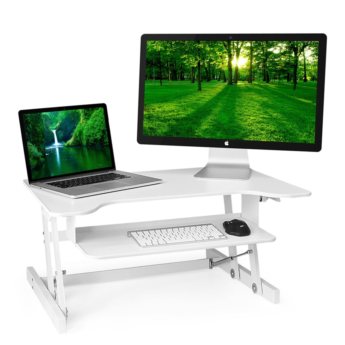 ergonomics electric up desktop computer desks legs converter surface platform and ergo lowers sit tables raising adjustable office that stand raises full of with standing table desk size height raised rising wheels