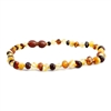 The Amber Monkey Polished Baroque Baltic Amber 10-11 inch Necklace - Multi POP