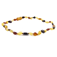 The Amber Monkey Polished Baltic Amber 10-11 inch Necklace - Multi Bean POP