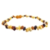 The Amber Monkey Baroque Baltic Amber 10-11 inch Necklace - Raw Multi POP