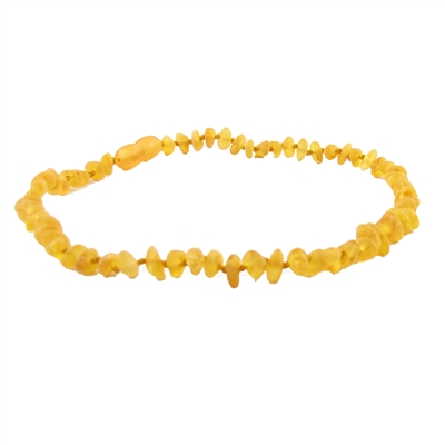 The Amber Monkey Baroque Baltic Amber 10-11 inch Necklace - Raw Honey POP