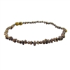The Amber Monkey Baroque 10-11 inch Necklace - Raw Olive POP