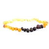 The Amber Monkey Baltic Amber Baroque 10-11 inch Necklace - Raw Rainbow POP