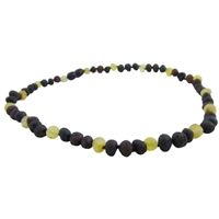 The Amber Monkey Baltic Amber Lemon Chestnut Trio Bracelet-8 inch