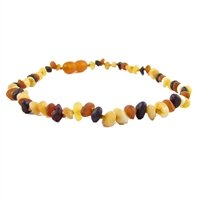 The Amber Monkey Baroque Baltic Amber 12-13 inch Necklace - Raw Multi POP