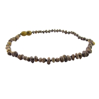 The Amber Monkey Baroque Baltic Amber 12-13 inch Necklace - Raw Olive POP