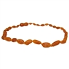 The Amber Monkey Baltic Amber 10-11 inch Necklace - Raw Cognac Bean POP