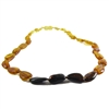 The Amber Monkey Polished Baltic Amber 17-18 inch Necklace - Rainbow Bean