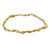 The Amber Monkey Baltic Amber 10-11 inch Necklace - Raw Pear Bean POP