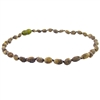 The Amber Monkey Baltic Amber 10-11 inch Necklace - Raw Olive Bean POP