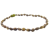 The Amber Monkey Baltic Amber 12-13 inch Necklace - Raw Olive Bean POP