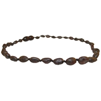 The Amber Monkey Baltic Amber 12-13 inch Necklace - Raw Chestnut Bean POP