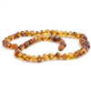 The Amber Monkey Polished Baroque Baltic Amber 17-18 inch Necklace - Honey