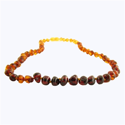 The Amber Monkey Polished Baroque Baltic Amber 17-18 inch Necklace - Rainbow