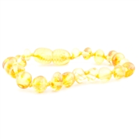 The Amber Monkey Polished Baroque Baltic Amber Bracelet-Lemon