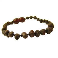 The Amber Monkey Polished Baroque Bracelet- Raw Chestnut