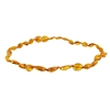 The Amber Monkey Polished Baltic Amber 10-11 inch Necklace - Honey Bean