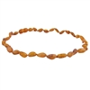 The Amber Monkey Baltic Amber 12-13 inch Necklace - Raw Cognac Bean