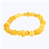 The Amber Monkey Baltic Amber Raw Lemon Stretch Bracelet- 7-8 inch