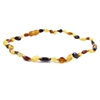 The Amber Monkey Polished Baltic Amber 12-13 inch Necklace - Multi Bean