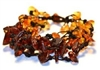 The Amber Monkey Baltic Amber Black Falls Bracelet-  7-8 inch