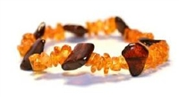 The Amber Monkey Baltic Amber Cherry & Honey Stretch Bracelet- 7-8 inch