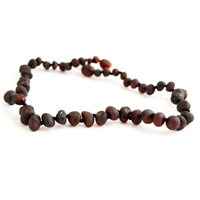 The Amber Monkey Raw Chestnut Baroque Bracelet- 7 inch