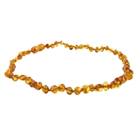 The Amber Monkey Polished Baroque Baltic Amber 10-11 inch Necklace - Honey POP