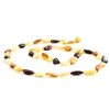 The Amber Monkey Polished Baltic Amber 21-22 inch Necklace - Multi Bean