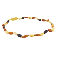 The Amber Monkey Baltic Amber 12-13 inch Necklace - Raw Multi Bean