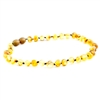 The Amber Monkey Baroque Baltic Amber 14-15 inch Necklace - Raw Pear