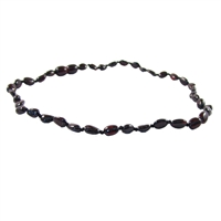 The Amber Monkey Polished Baltic Amber 14-15 inch Necklace - Chestnut Bean Discontinued